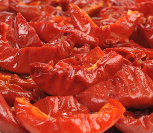 Oven Roasted Semi-Dried IQF Frozen Marinated Tomato Peppers
