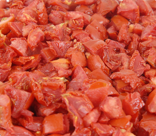 Oven Roasted Semi-Dried IQF Frozen 10x10 Diced Tomatoes
