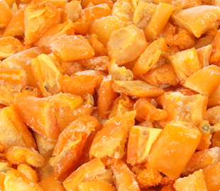 Oven Roasted Semi-Dried IQF Frozen 1/3 Chopped Yellow Tomatoes