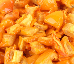 Oven Roasted Semi-Dried IQF Frozen 10x10 Diced Yellow Tomatoes